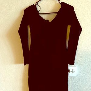 Black Express Mini Dress